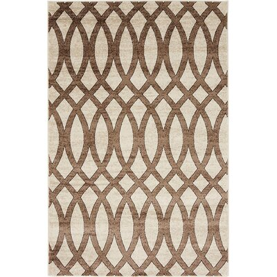 Greene Brown/Beige Area Rug Rug Size: 4 x 6