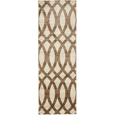 Greene Brown/Beige Area Rug Rug Size: 2 x 6