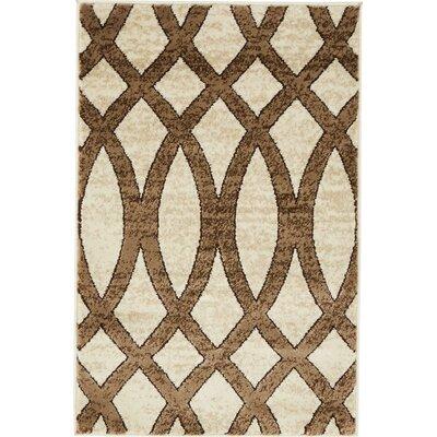 Greene Brown/Beige Area Rug Rug Size: 2 x 3
