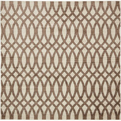 Greene Brown/Beige Area Rug Rug Size: Round 8