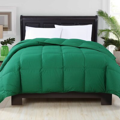 Corduff Down Alternative Comforter Color: Green, Size: Full/Queen