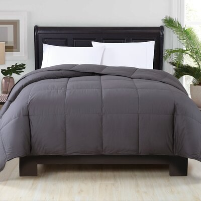 Corduff Down Alternative Comforter Color: Iron, Size: King