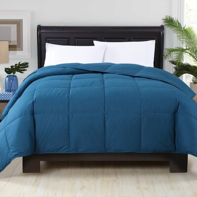 Corduff Down Alternative Comforter Color: Navy, Size: King