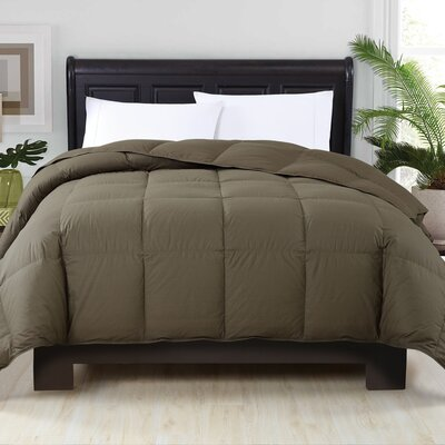 Perth Down Comforter Color: Grape Leaf, Size: Full/Queen
