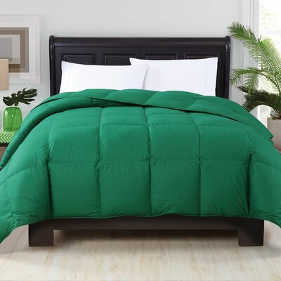 Perth Down Comforter Color: Green, Size: King