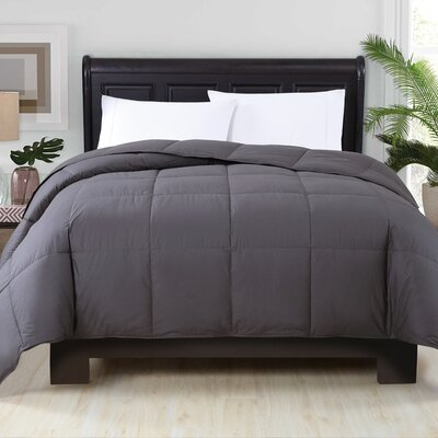 Perth Down Comforter Color: Iron, Size: Full/Queen