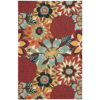 Shala Red/Orange Area Rug Rug Size: 5 x 7