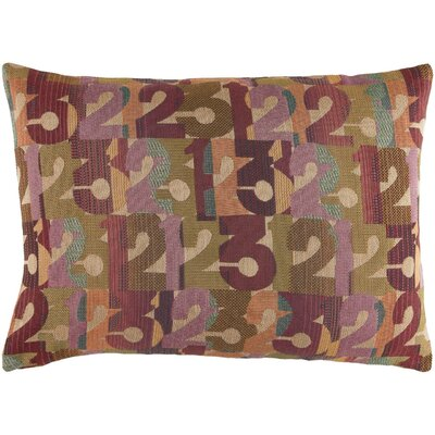 Latson Follow the Numbers Lumbar Pillow Color: Purple/Olive