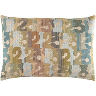 Latson Follow the Numbers Lumbar Pillow Color: Teal/Green