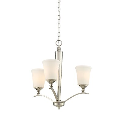 Pottstown 3-Light Shaded Chandelier