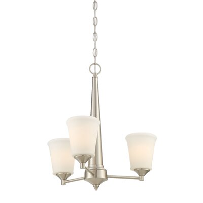 Prattsburgh 3-Light Shaded Chandelier