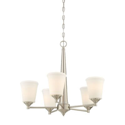 Prattsburgh 5-Light Shaded Chandelier