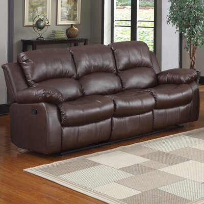Patton Power Reclining Sofa Upholstery: Brown