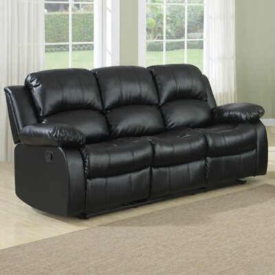 Patton Power Reclining Sofa Upholstery: Black