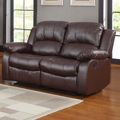 Patton Power Loveseat Upholstery: Brown