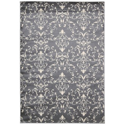 Miriam Dark Gray / Beige Area Rug Rug Size: Rectangle 53 x 73