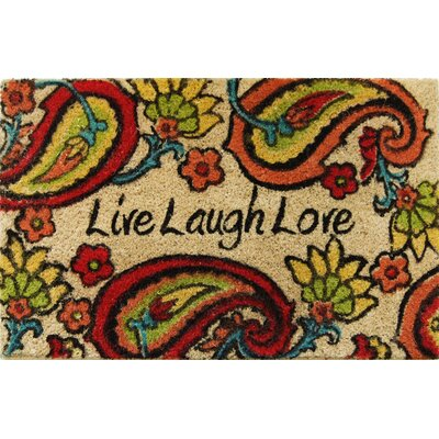 Carrie Paisley Live Laugh Love Doormat Rug Size: Rectangle 16 x 24