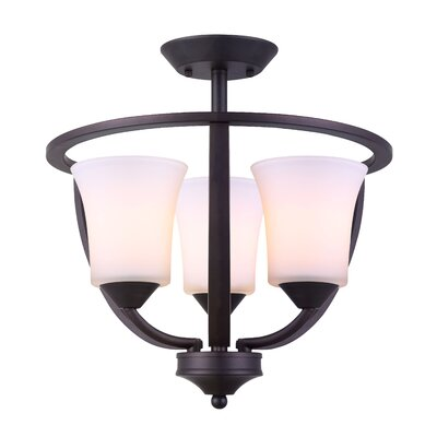 Bailes 3-Light Semi Flush Mount
