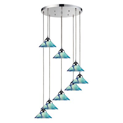 Sharpe 8-Light Cascade Pendant