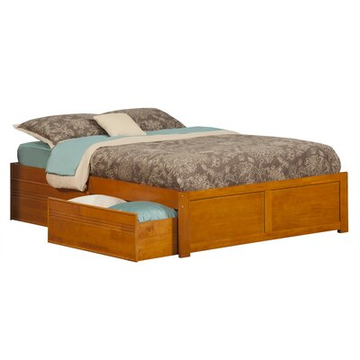 Mackenzie Storage Platform Bed Size: Twin, Finish: Antique Walnut