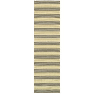 Alford Grey/Ivory Indoor/Outdoor Area Rug Rug Size: Runner 23 x 76