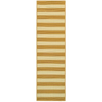 Alford Hand-Woven Yellow Indoor/Outdoor Area Rug Rug Size: Runner 23 x 76