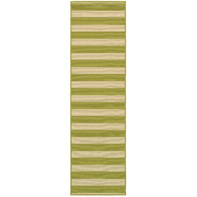 Alford Green Indoor/Outdoor Area Rug Rug Size: Runner 23 x 76