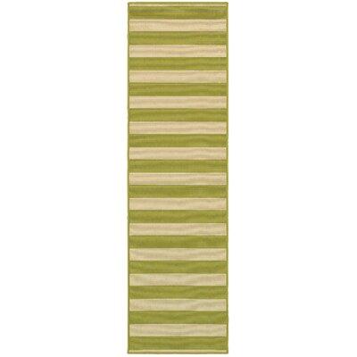 Alford Green Indoor/Outdoor Area Rug Rug Size: Runner 23 x 76
