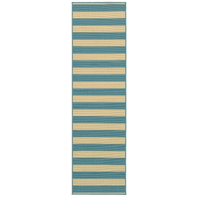 Alford Dark Teal Indoor/Outdoor Area Rug Rug Size: Runner 23 x 76