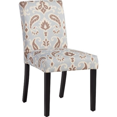 Yale Side Chair Upholstery: Blue / Brown