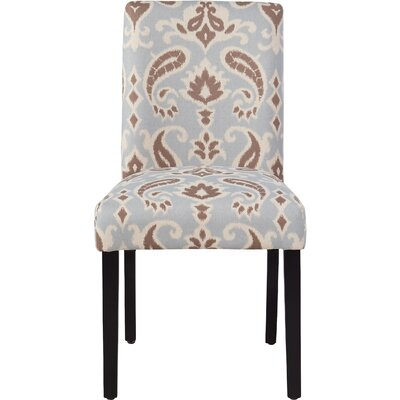 Yale Upholstered Side Chair Upholstery: Blue / Brown