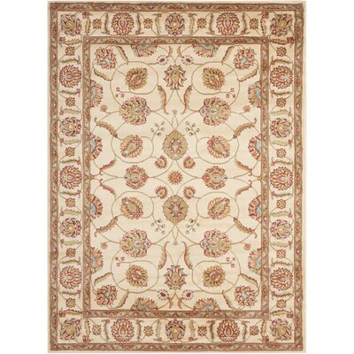 Meriwether Beige/Brown Area Rug Rug Size: 53 x 73