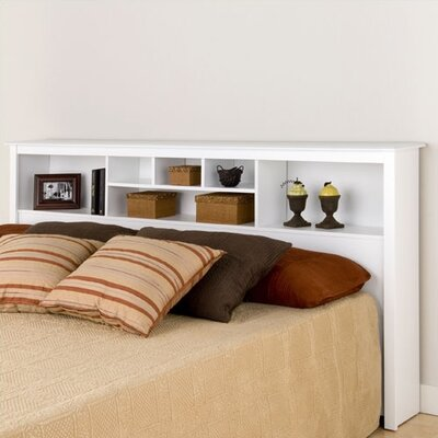 Sybil King Bookcase Headboard Finish: White