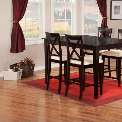 Crestwood 5 Piece Counter Height Dining Set Finish: Espresso