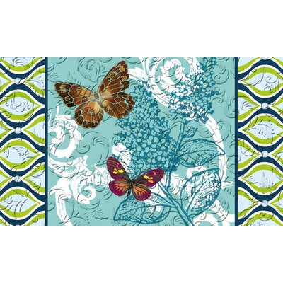 Barnegat Pretty Pattern Butterflies Embossed Doormat