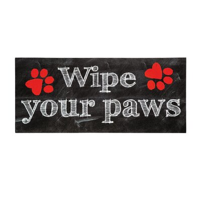 Blackfoot Wipe Your Paws Sassafras Doormat