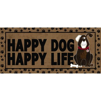 Hillview Happy Dog Happy Life Sassafras Doormat