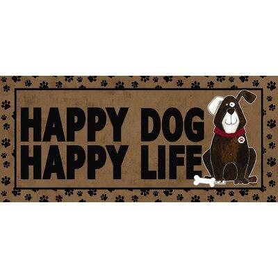 Hillview Happy Dog Happy Life Sassafras Doormat