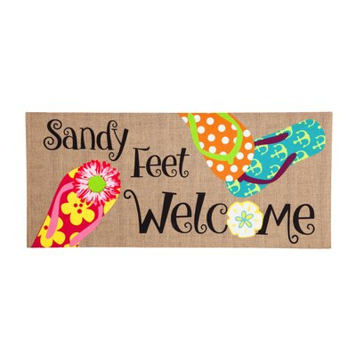 Minuteman Sandy Feet Welcome Sassafras Doormat