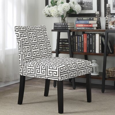 Geometric Highwoods Slipper Chair Upholstery: Gray
