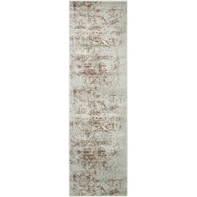 Armand Gray/Light Brown Area Rug Rug Size: Runner 22 x 76
