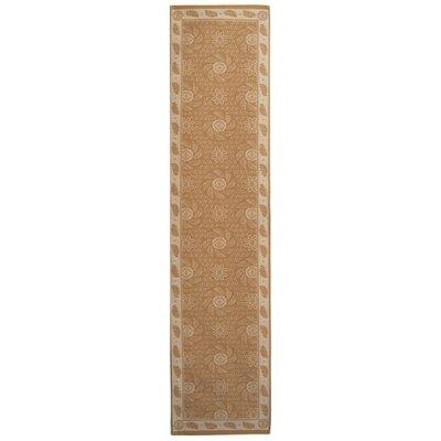 Pinwheel Hand Tufted Wool Oat Area Rug Rug Size: Runner 22 x 95