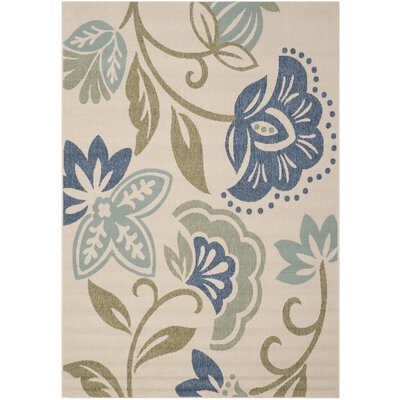 Petaluma Beige/Blue/Sage Area Rug Rug Size: Rectangle 67 x 96