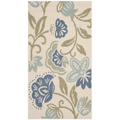 Petaluma Beige/Blue/Sage Area Rug Rug Size: Rectangle 4 x 57