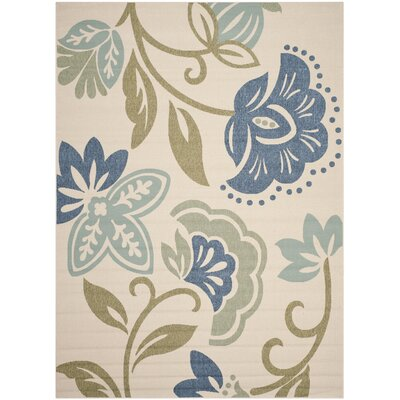 Petaluma Beige/Blue/Sage Area Rug Rug Size: Rectangle 8 x 112
