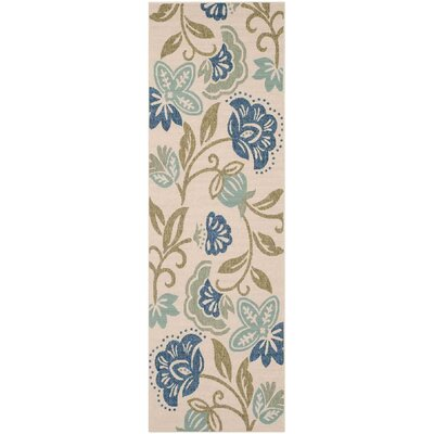 Petaluma Beige/Blue/Sage Area Rug Rug Size: Rectangle 27 x 5