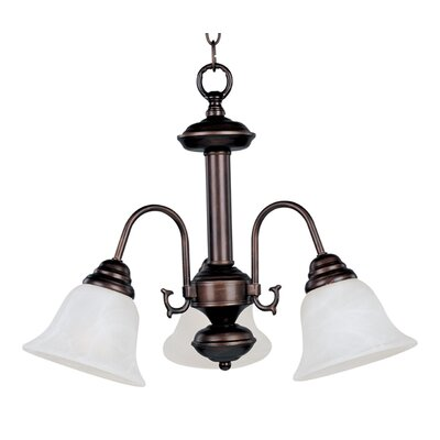Barrett 3-Light Shaded Chandelier Finish/Shade: Oil Rubbed Bronze with Marble Shade