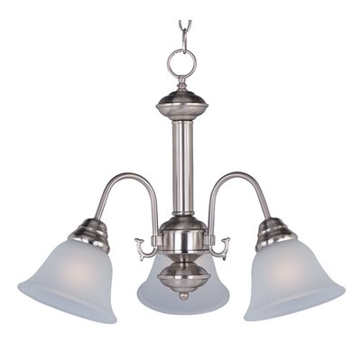 Barrett 3-Light Shaded Chandelier Finish/Shade: Satin Nickel with Frosted Glass Shade