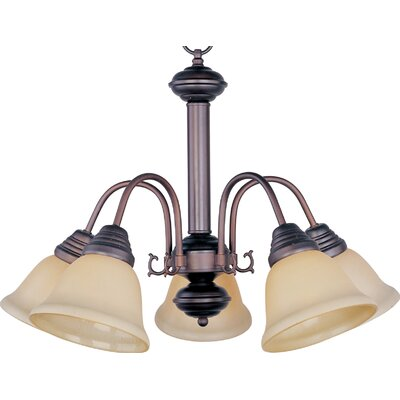 Barrett 5-Light Shaded Chandelier Finish/Shade: Oil Rubbed Bronze with Wilshire Shade