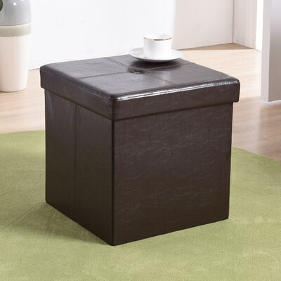 Carisbrooke Cube Upholstered Storage Ottoman Upholstery: Brown